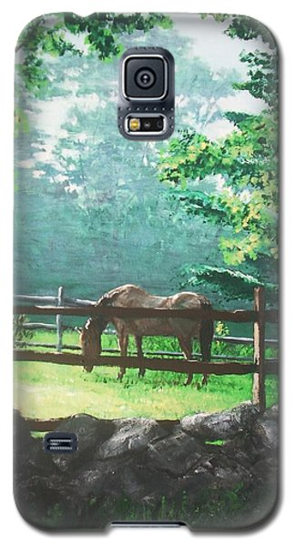 Galaxy S5 Case featuring the painting Morning Pasture by Jack Skinner