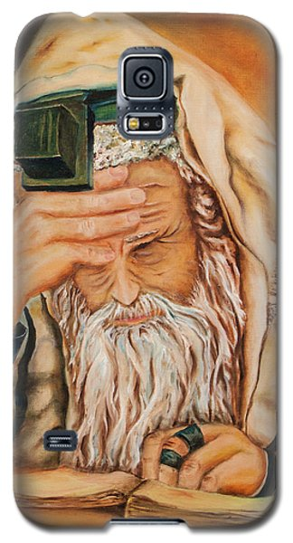 Galaxy S5 Case featuring the painting Morning Prayer by Itzhak Richter
