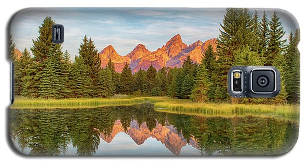 Galaxy S5 Case featuring the photograph Morning Reflections by Mary Hone