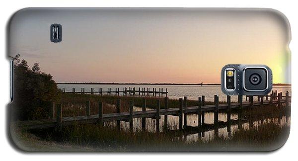 Morning Sunrise Over Assateaque Island Galaxy S5 Case by Donald C Morgan