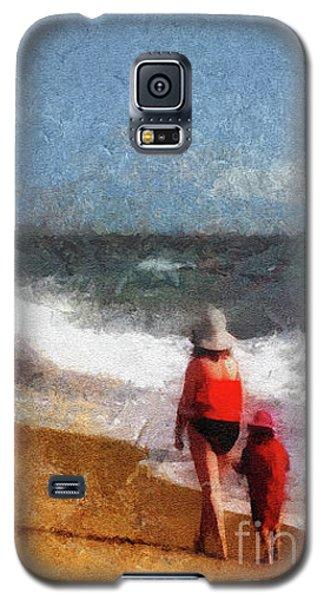 Morning Walk Along The Beach Galaxy S5 Case