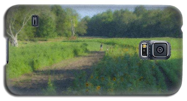 Morning Walk At Langwater Farm Galaxy S5 Case