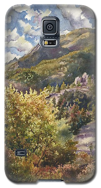 Galaxy S5 Case featuring the painting Morning Walk At Mount Sanitas by Anne Gifford