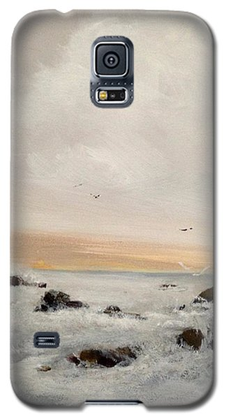 Galaxy S5 Case featuring the painting Morning Walk by Helen Harris