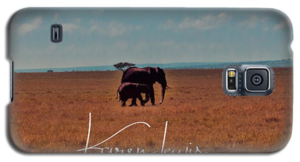 Galaxy S5 Case featuring the photograph Morning Walk by Karen Lewis