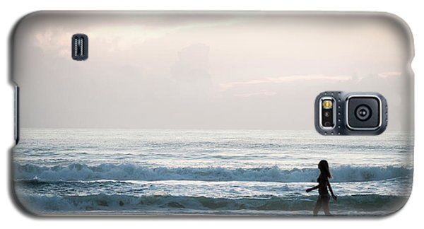 Morning Walk With Color Galaxy S5 Case
