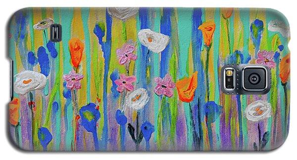 Morning Wildflowers Galaxy S5 Case