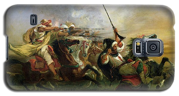 Moroccan Horsemen In Military Action Galaxy S5 Case by Ferdinand Victor Eugene Delacroix