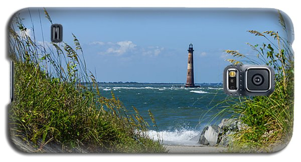 Morris Island Lighthouse Walkway Galaxy S5 Case by Jennifer White