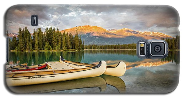 Jasper Lake Canoes Galaxy S5 Case