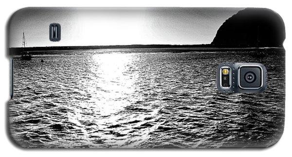 Morro Rock, Black And White Galaxy S5 Case