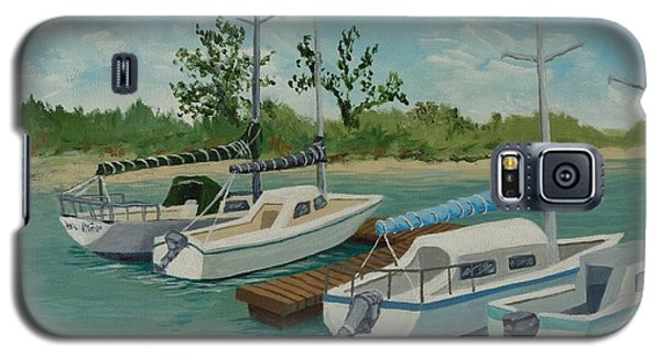 Galaxy S5 Case featuring the painting Morro Bay State Park Ca by Katherine Young-Beck