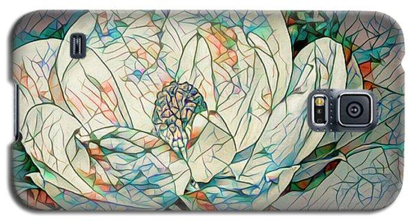 Magnolia Galaxy S5 Case - Mosaic Magnolia by Deborah Benoit
