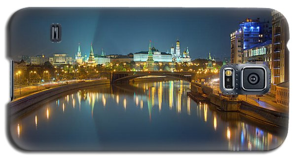 Moscow Kremlin At Night Galaxy S5 Case by Alexey Kljatov