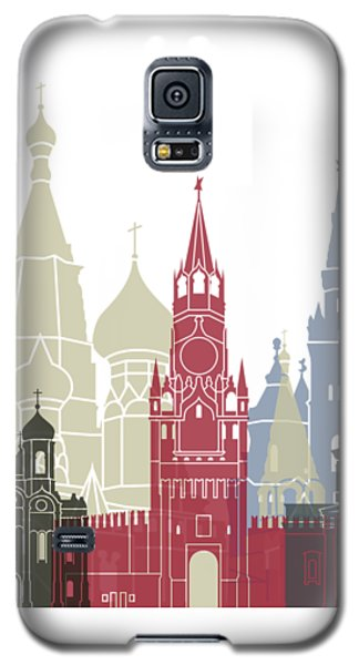 Moscow Skyline Poster Galaxy S5 Case