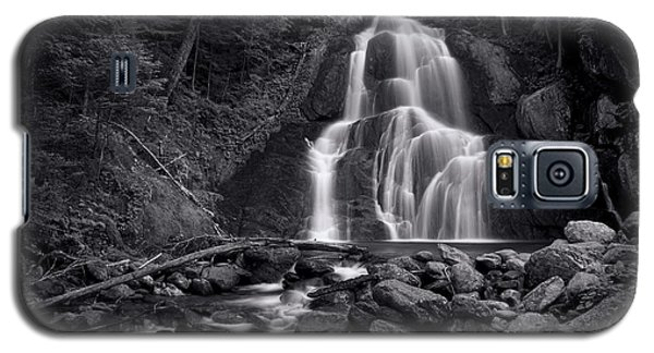 Mountain Galaxy S5 Case - Moss Glen Falls - Monochrome by Stephen Stookey