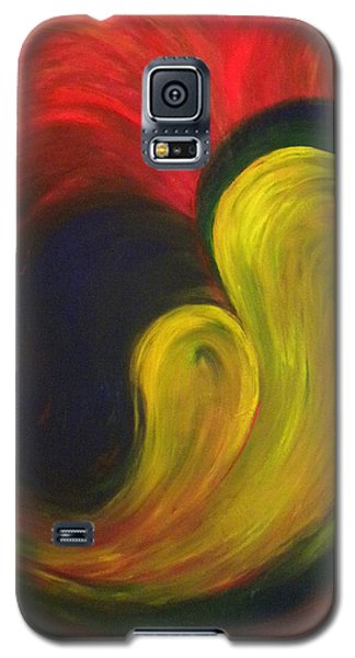 Galaxy S5 Case featuring the painting Mother And Baby by Fanny Diaz