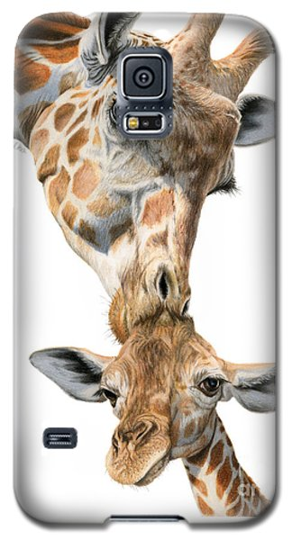 Mother And Baby Giraffe Galaxy S5 Case by Sarah Batalka