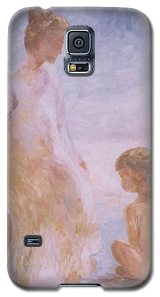Mother And Baby On The Beach Galaxy S5 Case