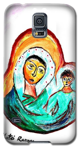 Galaxy S5 Case featuring the painting Mother And Child by Ramona Matei