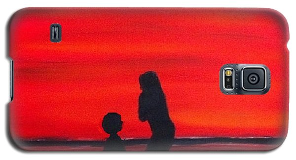 Galaxy S5 Case featuring the painting Mother And Child by Rod Jellison