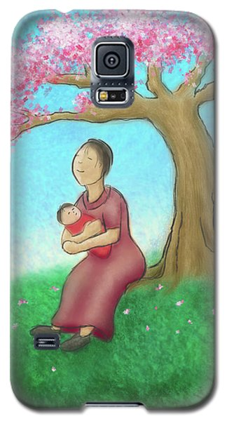 Mother And Child With Cherry Blossoms Galaxy S5 Case