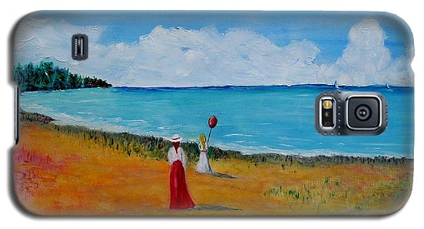 Galaxy S5 Case featuring the painting Mother And Daughter by Marilyn  McNish