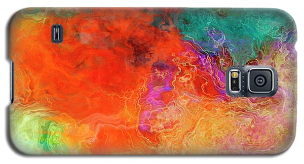 Mother Earth - Abstract Art - Triptych 2 Of 3 Galaxy S5 Case