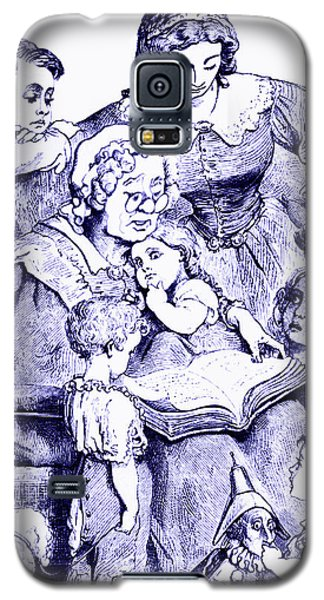 Mother Goose Reading To Children Galaxy S5 Case by Marian Cates
