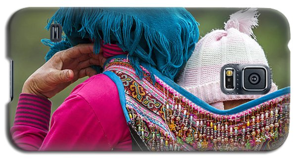 Galaxy S5 Case featuring the photograph Mother, Sa Pa, 2014 by Hitendra SINKAR