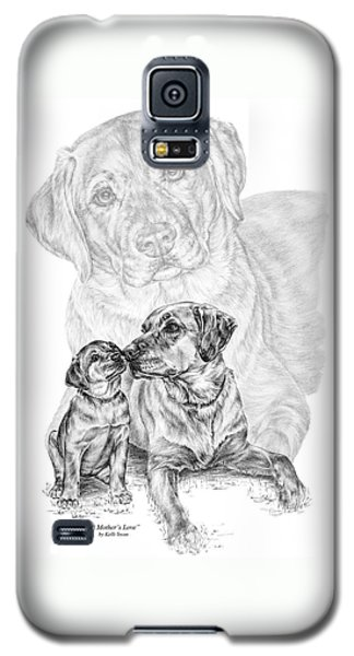 Mother Labrador Dog And Puppy Galaxy S5 Case