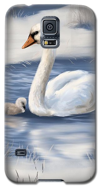 Galaxy S5 Case featuring the painting Mother Love by Veronica Minozzi