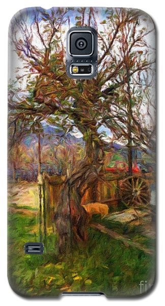 Galaxy S5 Case featuring the painting Mother Nature Twirls by Teri D Brown