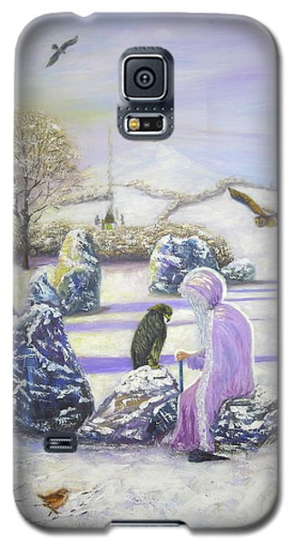 Mother Of Air Goddess Danu - Winter Solstice Galaxy S5 Case