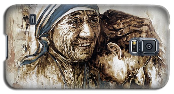 Galaxy S5 Case featuring the painting Mother Teresa  by Gull G