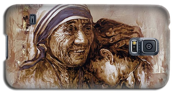 Galaxy S5 Case featuring the painting Mother Teresa Of Calcutta  by Gull G