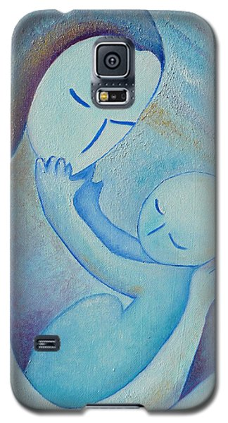 Motherhood Oil Painting Your Little Hands By Gioia Albano Galaxy S5 Case by Gioia Albano