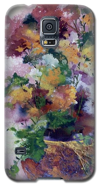Galaxy S5 Case featuring the painting Mother's Day Floral by Helen Harris