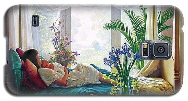 Galaxy S5 Case featuring the painting Mother's Love by Greg Olsen