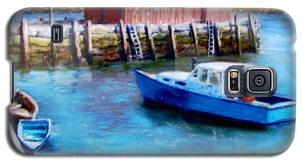 Galaxy S5 Case featuring the painting Motif One Rockport Harbor by Jack Skinner