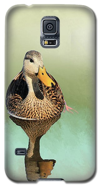 Mottled Duck Reflection Galaxy S5 Case by Rosalie Scanlon