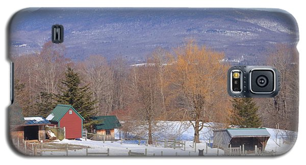 Mount Abraham And Winter Farm Green Mountains Galaxy S5 Case by John Burk