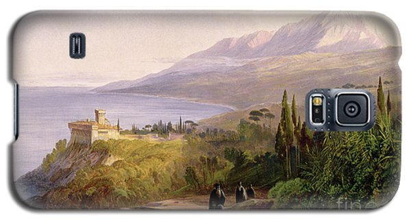 Mount Athos And The Monastery Of Stavroniketes Galaxy S5 Case by Edward Lear