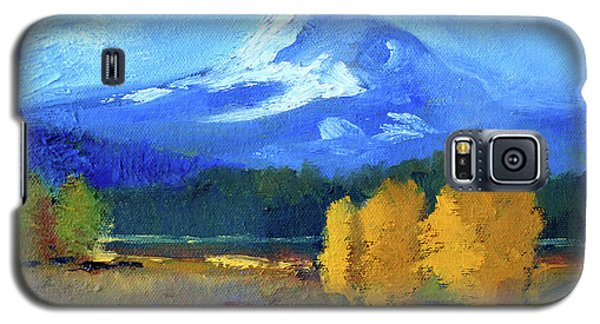 Galaxy S5 Case featuring the painting Mount Hood by Nancy Merkle