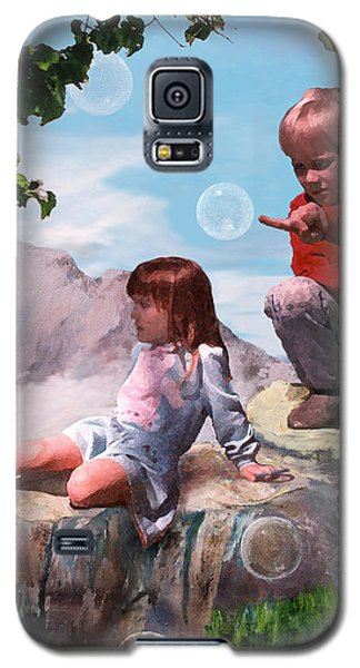 Galaxy S5 Case featuring the painting Mount Innocence by Steve Karol