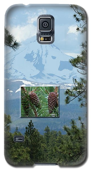 Mount Jefferson With Pines Galaxy S5 Case by Laddie Halupa