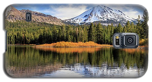 Galaxy S5 Case featuring the photograph Mount Lassen Reflections Panorama by James Eddy