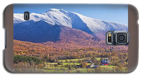 Mount Mansfield Autumn Snowfall Galaxy S5 Case