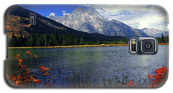 Galaxy S5 Case featuring the photograph Mount Moran In The Fall by Raymond Salani III
