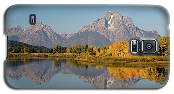 Galaxy S5 Case featuring the photograph Mount Moran by Steve Stuller